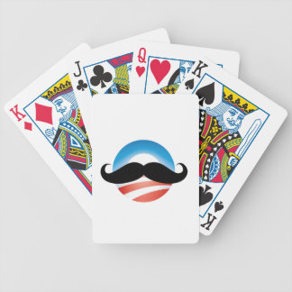 Mustache for Obama Bicycle Playing Cards