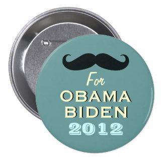 Mustache For Obama Biden 2012 Campaign Button