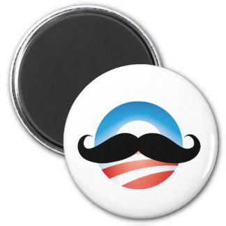 Mustache for Obama Magnet