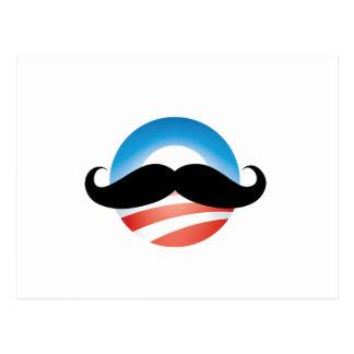 Mustache for Obama Postcard