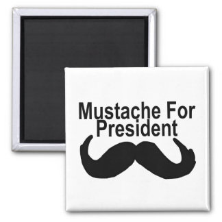 Mustache For President 2 Inch Square Magnet