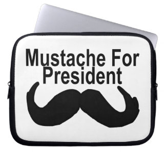Mustache For President Laptop Computer Sleeves