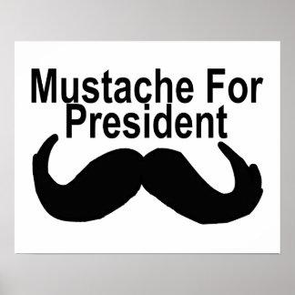 Mustache For President Poster