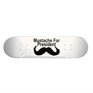 Mustache For President Custom Skateboard