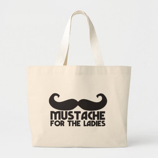 Mustache for the ladies jumbo tote bag