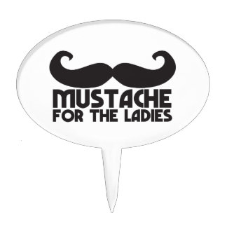Mustache for the Ladies Moustache NP design Oval Cake Picks