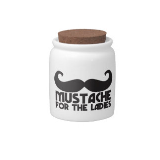 Mustache for the Ladies Moustache NP design Candy Dishes