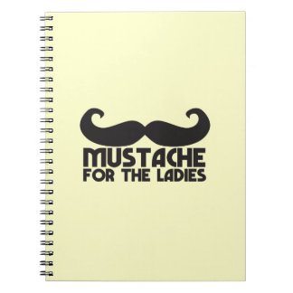 Mustache for the Ladies Moustache NP design Spiral Note Books