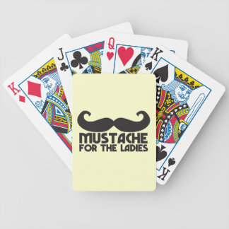 Mustache for the Ladies Moustache NP design Bicycle Playing Cards