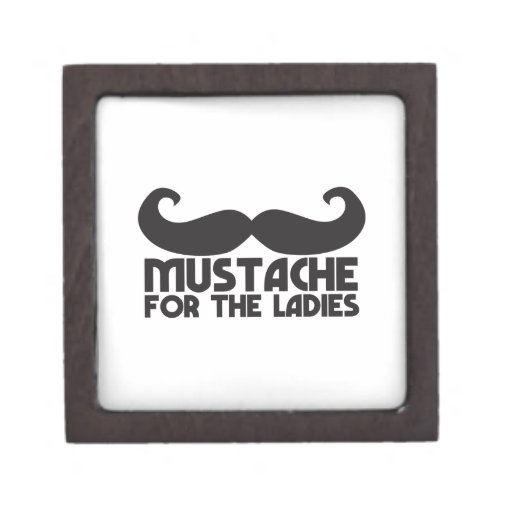 Mustache for the Ladies Moustache NP design Premium Keepsake Box