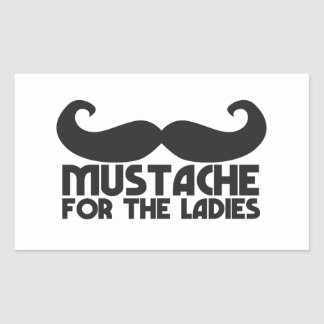 Mustache for the Ladies Moustache NP design Rectangle Stickers