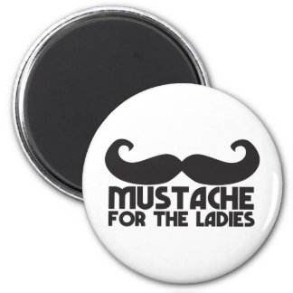 Mustache for the ladies refrigerator magnet