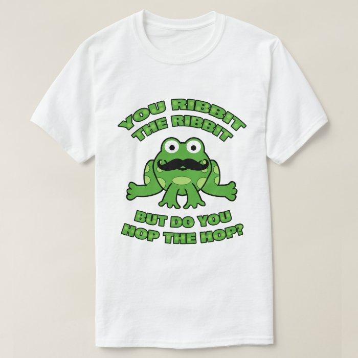 Mustache Frog Hop the Hop T-Shirt