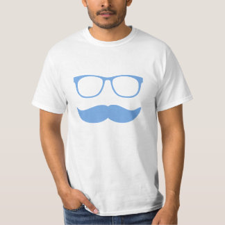 Mustache Funny Face With Glasses T-Shirt