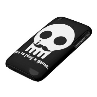 mustache gamer Case-Mate iPhone 3 cases