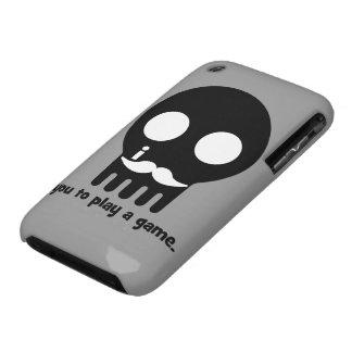 mustache gamer Case-Mate iPhone 3 case