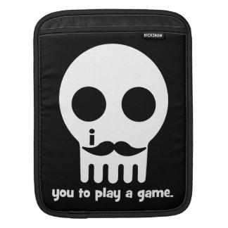 mustache gamer iPad sleeves