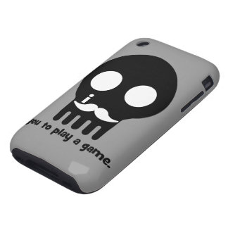 mustache gamer iPhone 3 tough cover