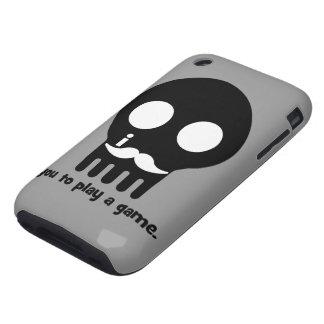 mustache gamer tough iPhone 3 case