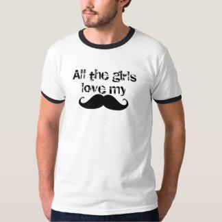 Mustache Girls Love T-Shirt