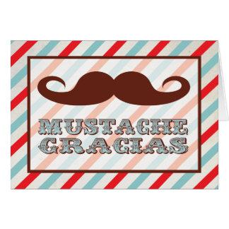 Mustache Gracias Thank you notes