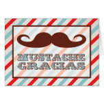 Mustache Gracias Thank you notes Stationery Note Card