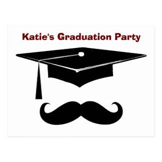 Mustache Graduation Post Cards