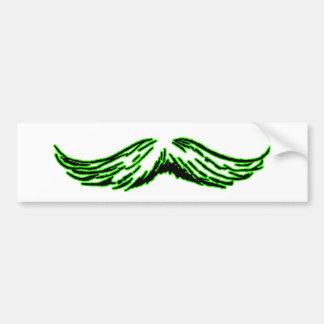 Mustache Green Black The MUSEUM Zazzle Gifts Bumper Stickers