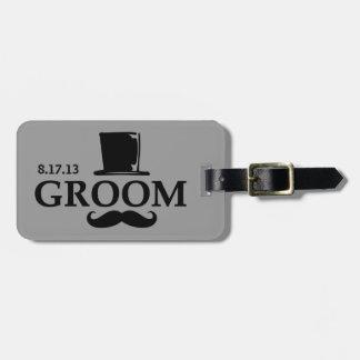 Mustache Groom Bag Tag