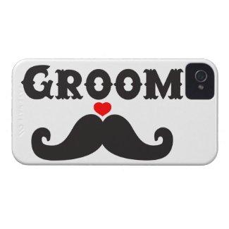 Mustache Groom Case-Mate iPhone 4 Cases