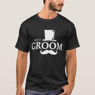 Mustache Groom DK T-Shirt