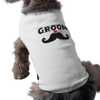Mustache Groom Pet T Shirt