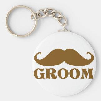 Mustache Groom Key Chain