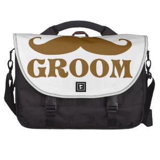 Mustache Groom Laptop Bag
