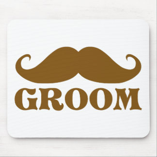 Mustache Groom Mouse Pads