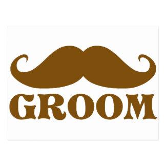 Mustache Groom Postcard