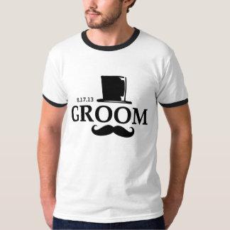 Mustache Groom T Shirt