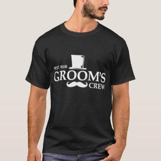 Mustache Groom's Crew DK T-Shirt