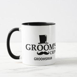 Mustache Groom's Crew Mug