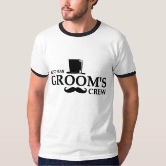 Mustache Groom's Crew T Shirt