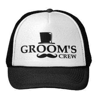 Mustache Groom's Crew Trucker Hat
