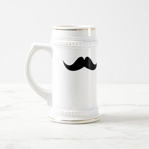 Mustache groomsman bachelor beer stein mug