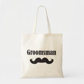 Mustache Groomsman Canvas Bags