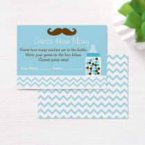 Mustache Guess How Many Game Business Card