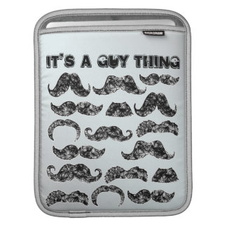 Mustache guy thing funny design for men sleeve for iPads