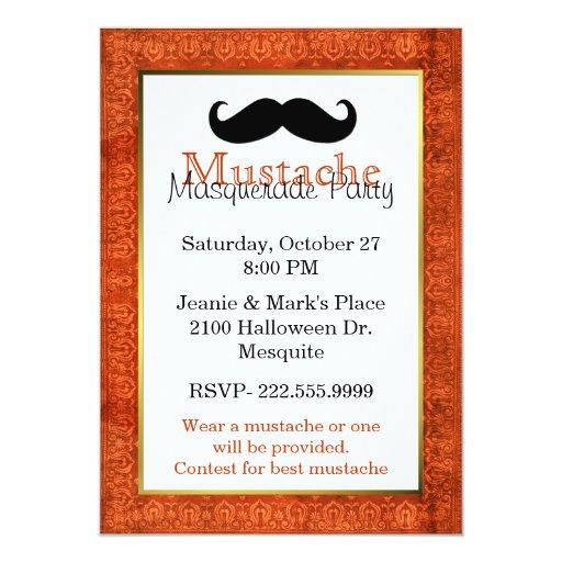 Mustache Halloween Party Invitation