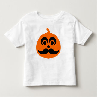 mustache Halloween pumpkin Toddler T-shirt