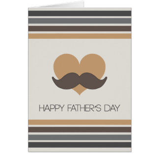 Mustache - Happy Father's Day Card