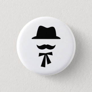 Mustache & Hat Pictogram Button