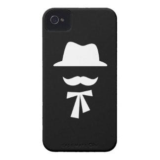 Mustache & Hat Pictogram iPhone 4 Case